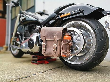 Dynamite Black Harley Davidson Dyna Glide Street Bob mod/èle 1996-2017 Sac de Sport en Cuir Orletanos Sac /à Outils lat/éral pour Bagages et Bagages /à Main Gauche HD c/ôt/é Gauche