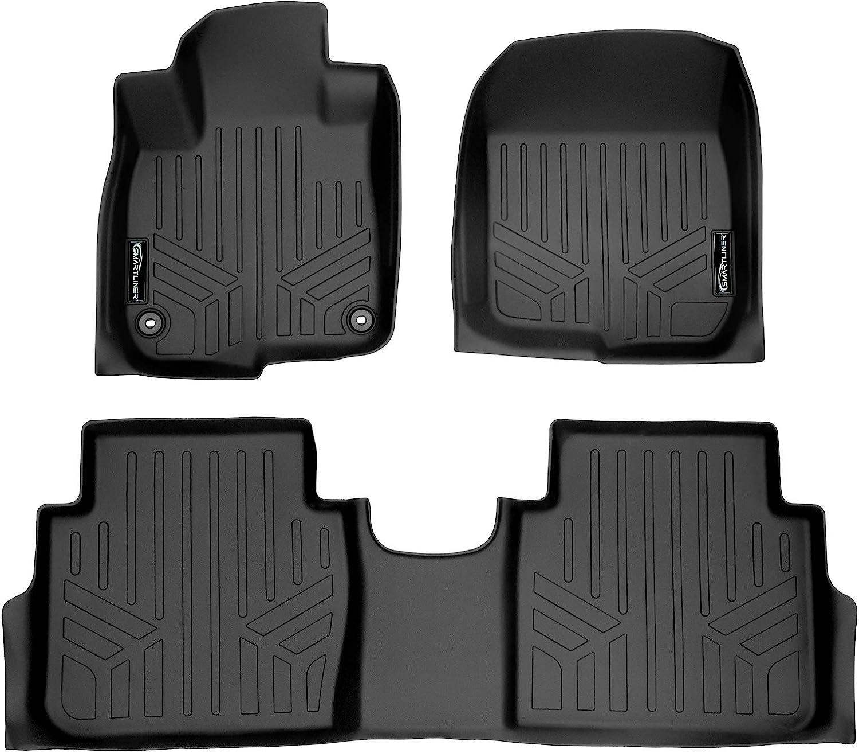 SMARTLINER Custom Fit Floor Mats 2 Row Liner Set Black for 2017-2020 Honda CR-V
