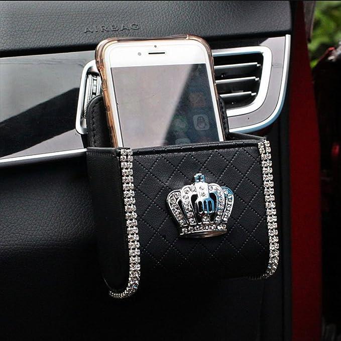 Black Demiawaking Car Air Vent Outlet Pocket Storage Organiser Holder Pouch for Phone Debris Keys Sunglasses Pens
