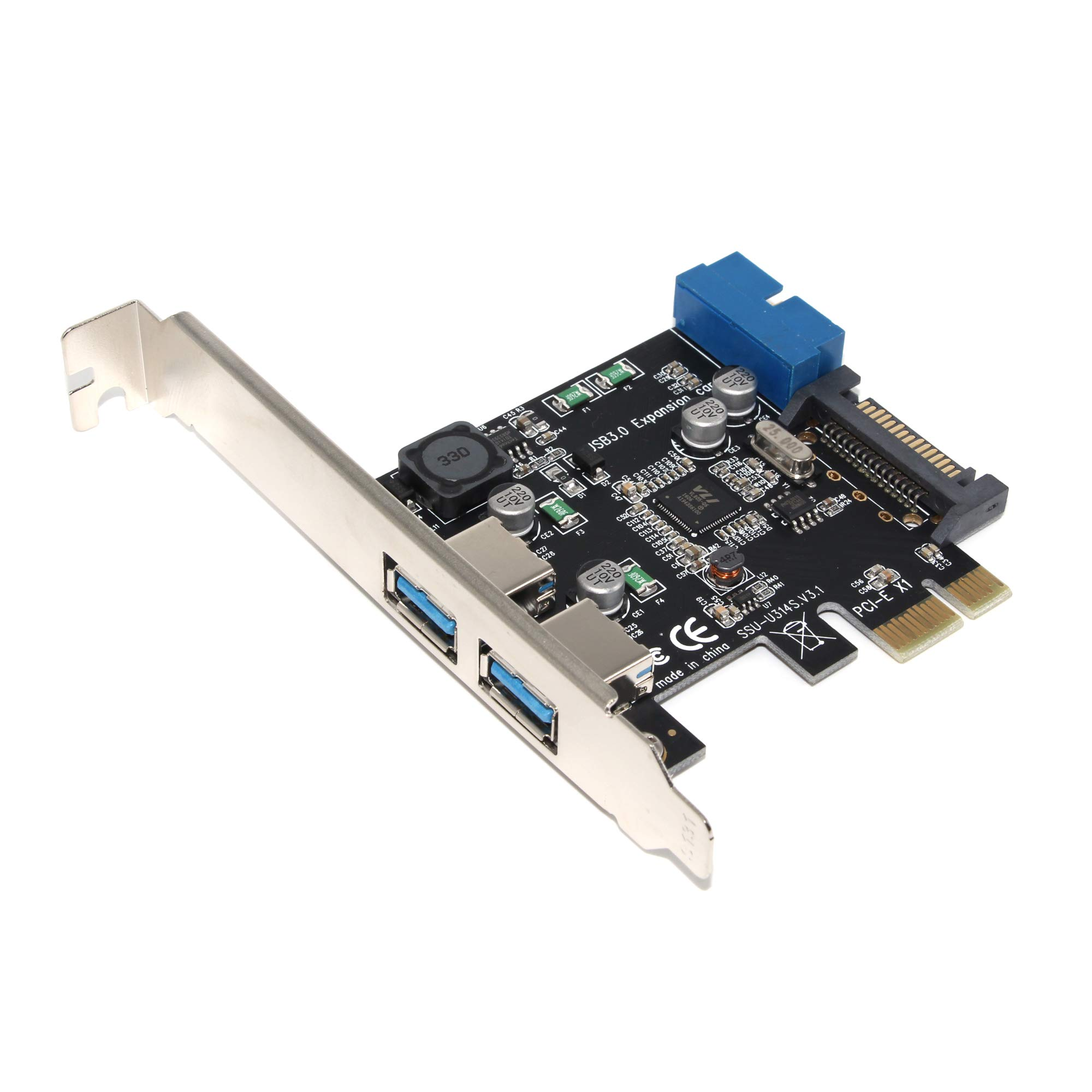 Padarsey Superspeed 2-port Usb 3.0 Pci-e Pci Express 19-pin
