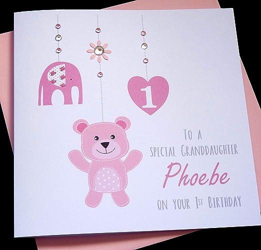 Handmade Personalised Baby Girls 1st