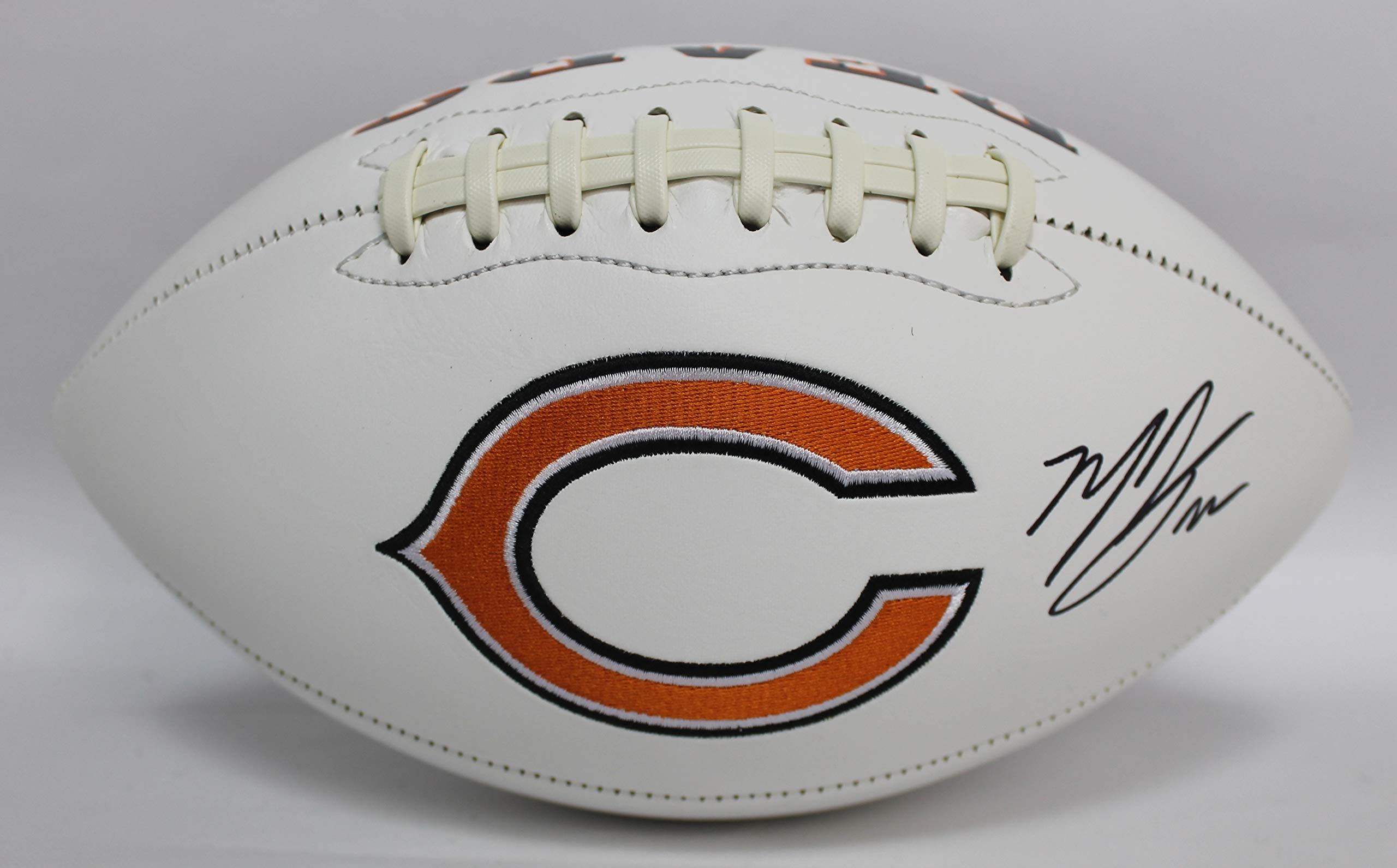Matt Forte Autographed Chicago Bears White Panel Football w/JSA COA