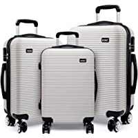 Kono Hard Shell PC Suitcase with 4 Spinner Wheels