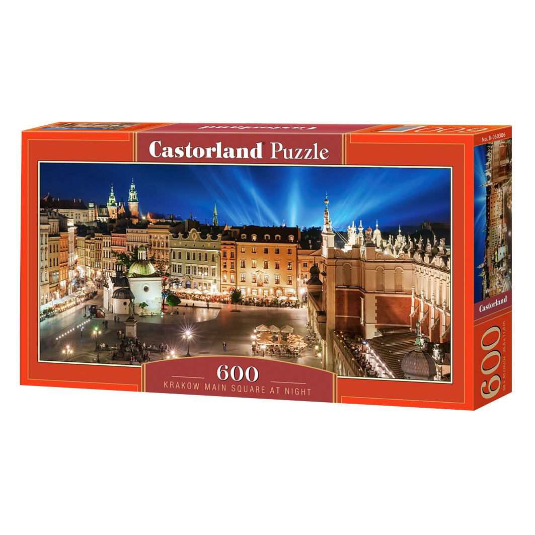 Castorland Puzzle Krakow Main Square at Night 600 Pieces