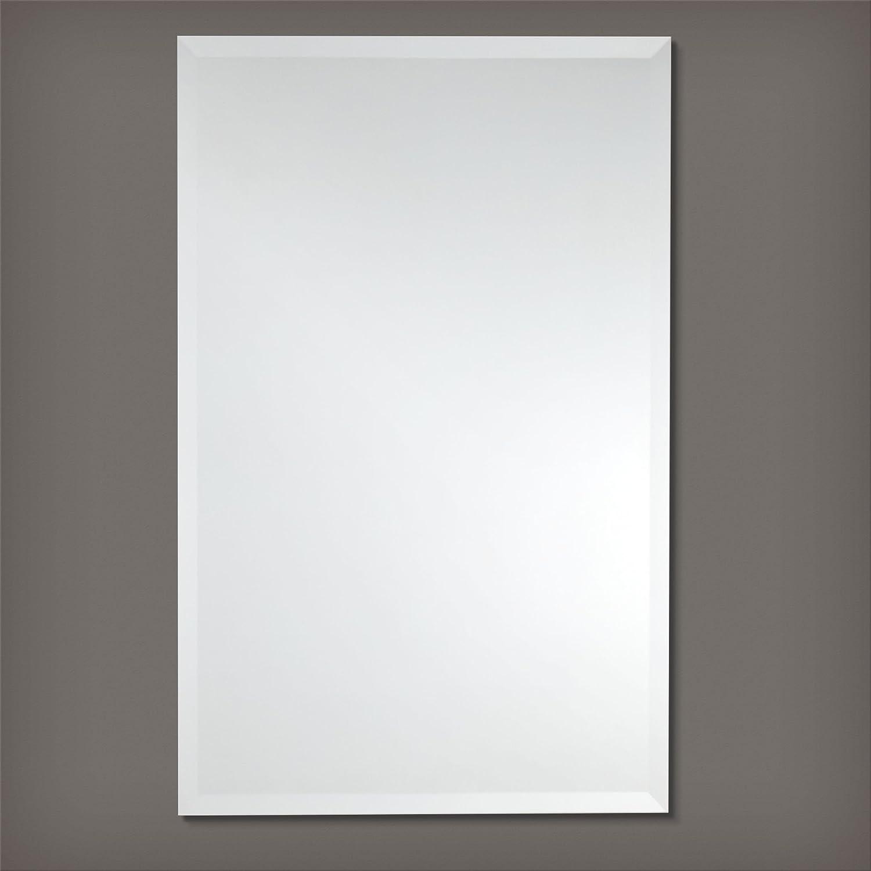 Amazon.com: Frameless Rectangle Wall Mirror | Bathroom, Vanity ...