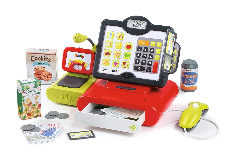 Kaufladen Kasse mit Scanner - Smoby 350102 - Elektronische Supermarktkasse