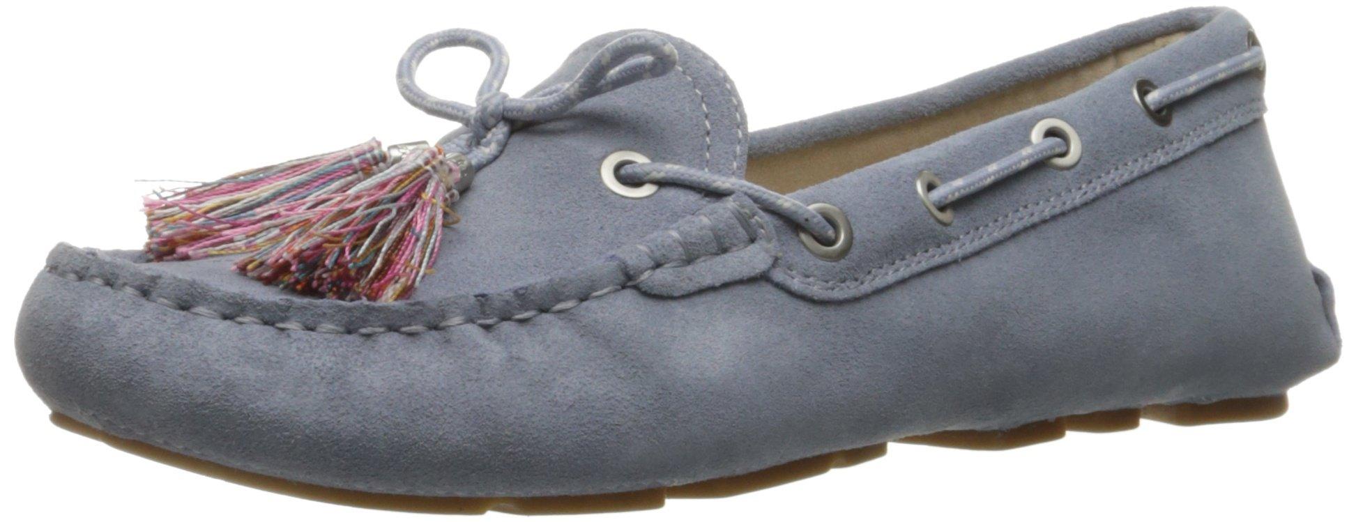 Sam Edelman Women's Fantine Boat Shoe, Dusty Blue Suede, 7.5 M US