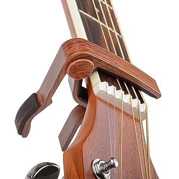 bestsounds cejilla guitarra capo para guitarras eléctricas y acústicas, zinc alloy- guitarra cejilla de cambio rápido y libre púas, Rosewood style: ...