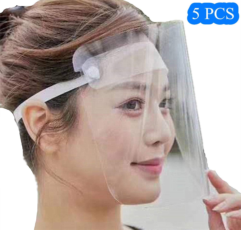 Capuche Faciale Anti-poussi/ère Pare-Soleil Ecran Transparent pour Hommes//Femmes//ni/ños Anti-bu/ée R/églable Visage Protection Compl/ète Visi/ère Large