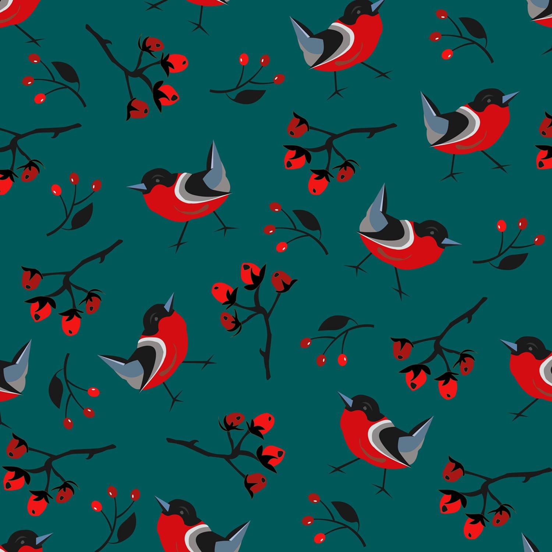 Regalo di natale carta –  Uccello di Natale –  Set da pezzi Extragoods