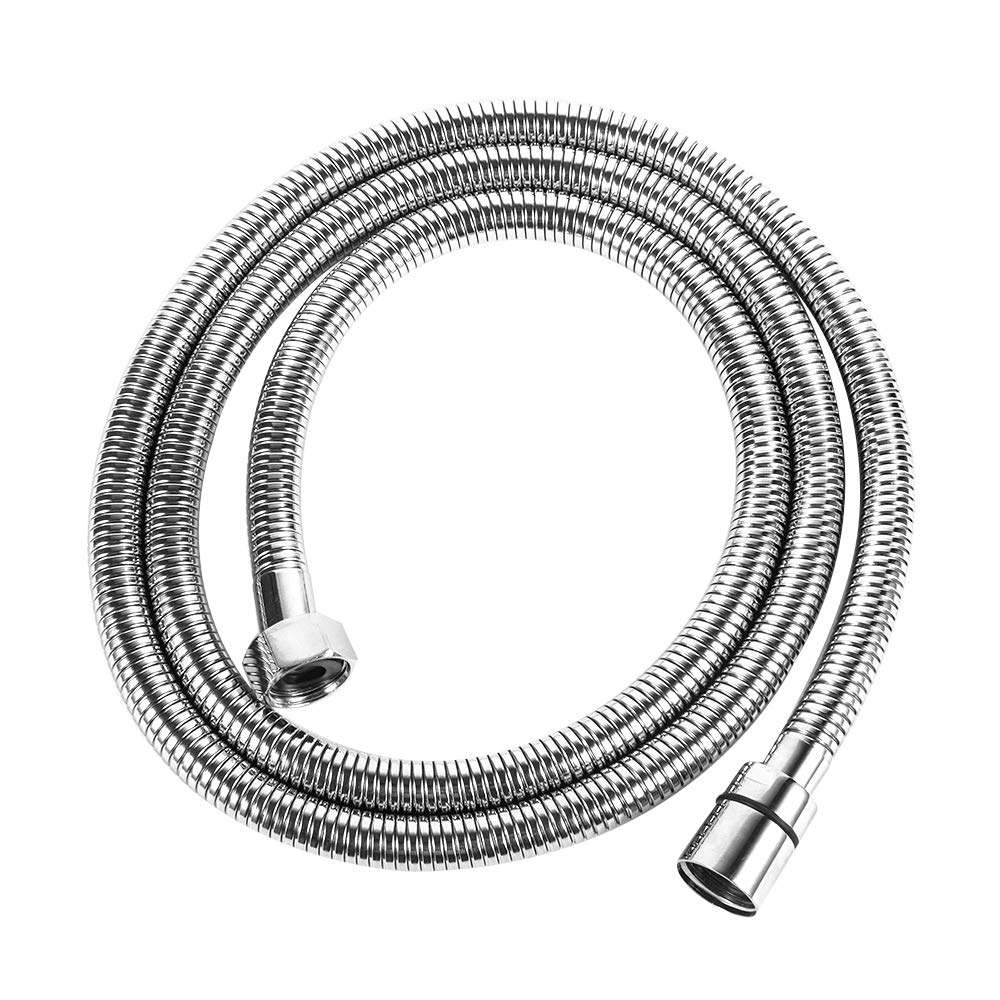 LORDEAR 100 Inches Portable Flexible 304 Stainless Steel Metal Extension Extra Long Shower Hose, Chrome Finish Replacement Handheld Shower Hose