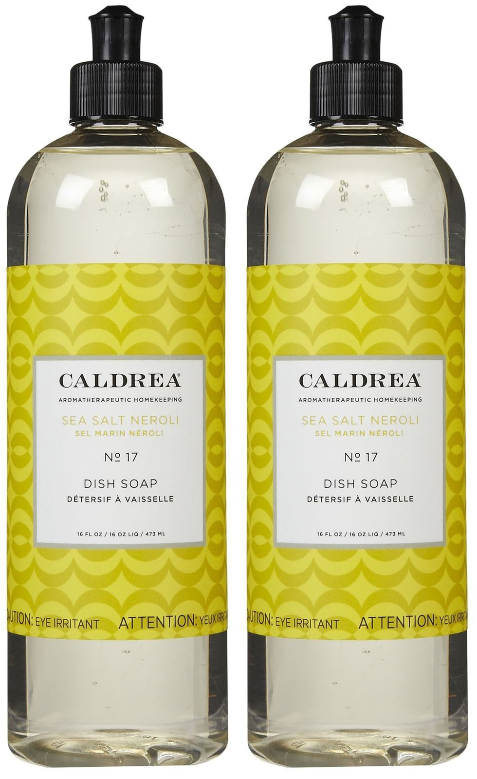 Caldrea Liquid Dish Soap - 16 oz - Sea Salt Neroli - 2 pk