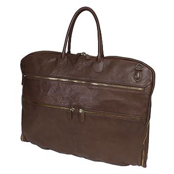 aff2d4da259 Terrida Marco Polo garment bag - LE003 (Dark Brown): Amazon.co.uk: Luggage