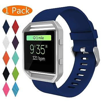 KingAcc Correa para Fitbit Blaze, Silicona Suave Pulsera de Respueto con Hebilla de Metal Compatible con Fitbit Fitbit Blaze smartwatch