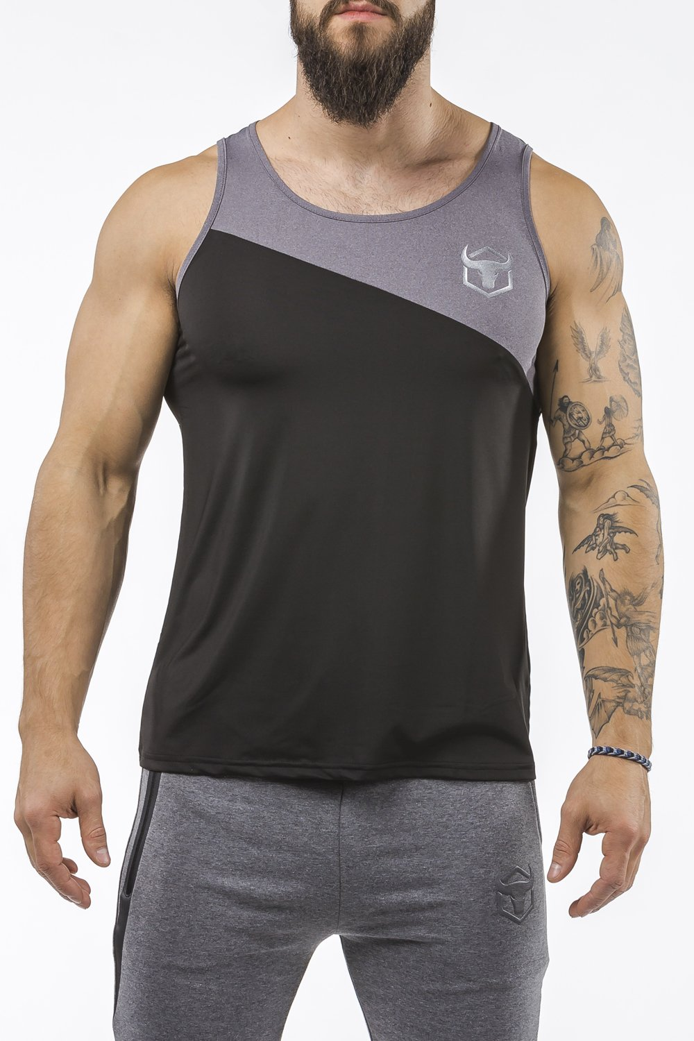Performance Tank Top - Paneled Quick-Dry Sleeveless Shirt - Sportswear Iron Bull Strength