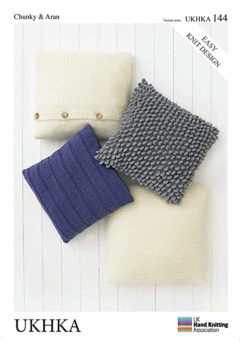 Cushion Covers Various Sizes UKHKA\144 Easy Knit Design Pattern