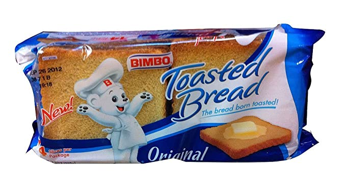 Bimbo Pan Tostado - Pan Blanco - Toasted Bread - 14 Slices 7.05 Oz [Pack of 3]