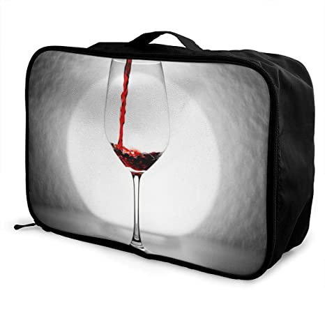 7af3cc35348c Amazon.com: Skrencai Packing Cubes Wine Goblet Travel Luggage Bag ...