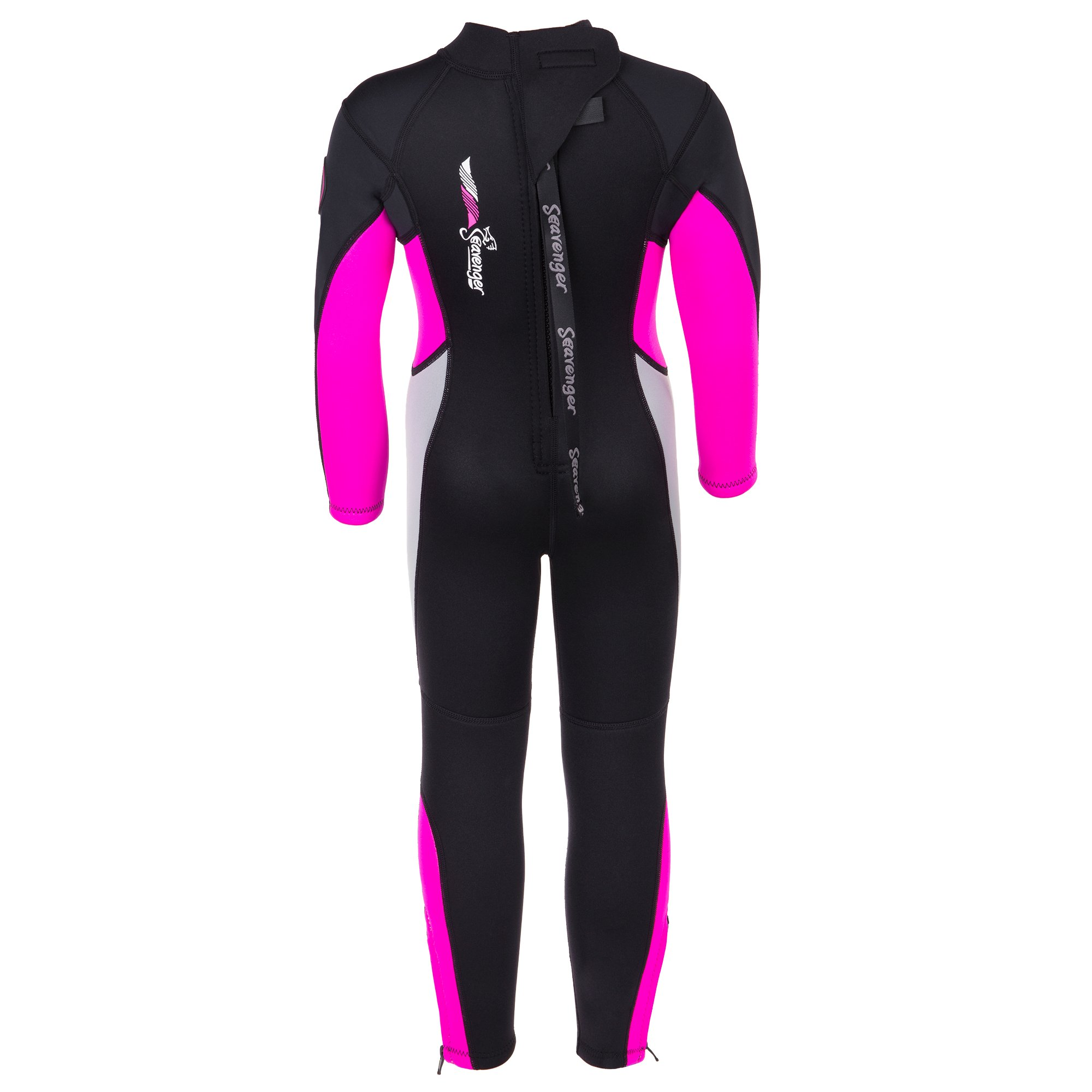 Seavenger Scout 3mm Kids Wetsuit | Full Body Neoprene Suit for Snorkeling, Swimming, Diving (Coral Pink, 6) by Seavenger (Image #3)