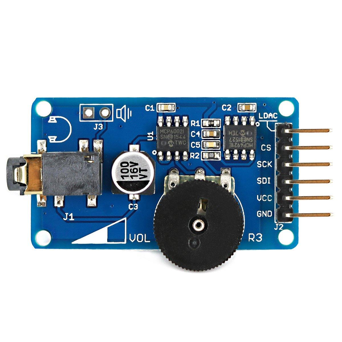 WAV reproductor de música voz módulo emisor mcp4921 Chipset, alta calidad de audio salida DIY proyectos para Arduino - azul: Amazon.es: Instrumentos ...