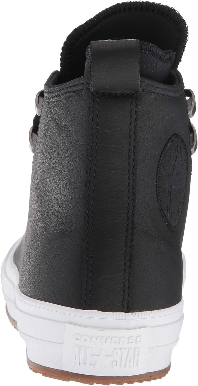Converse Chuck Taylor All Star Waterproof High Sneakers voor dames Zwart Zwart Zwart Zwart Wit 001
