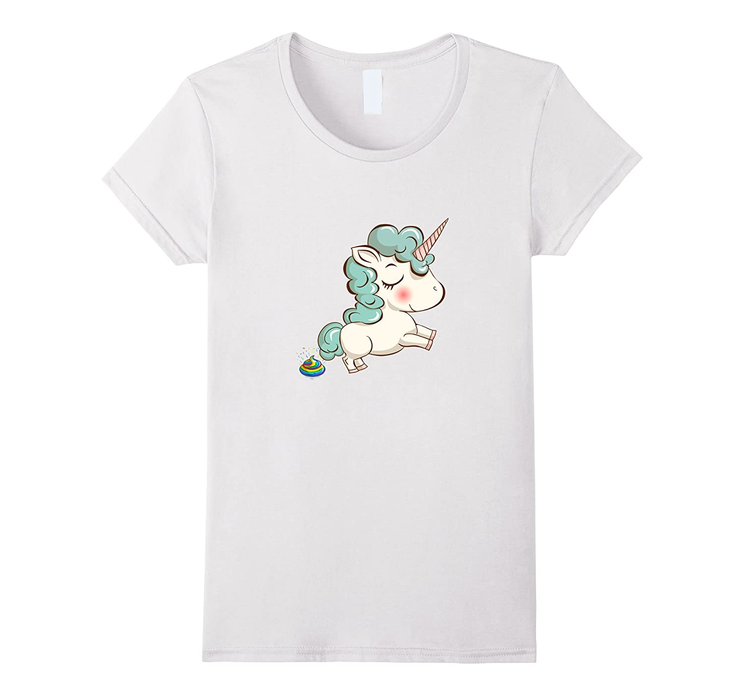 Unicorn Pooping Rainbow T Shirt
