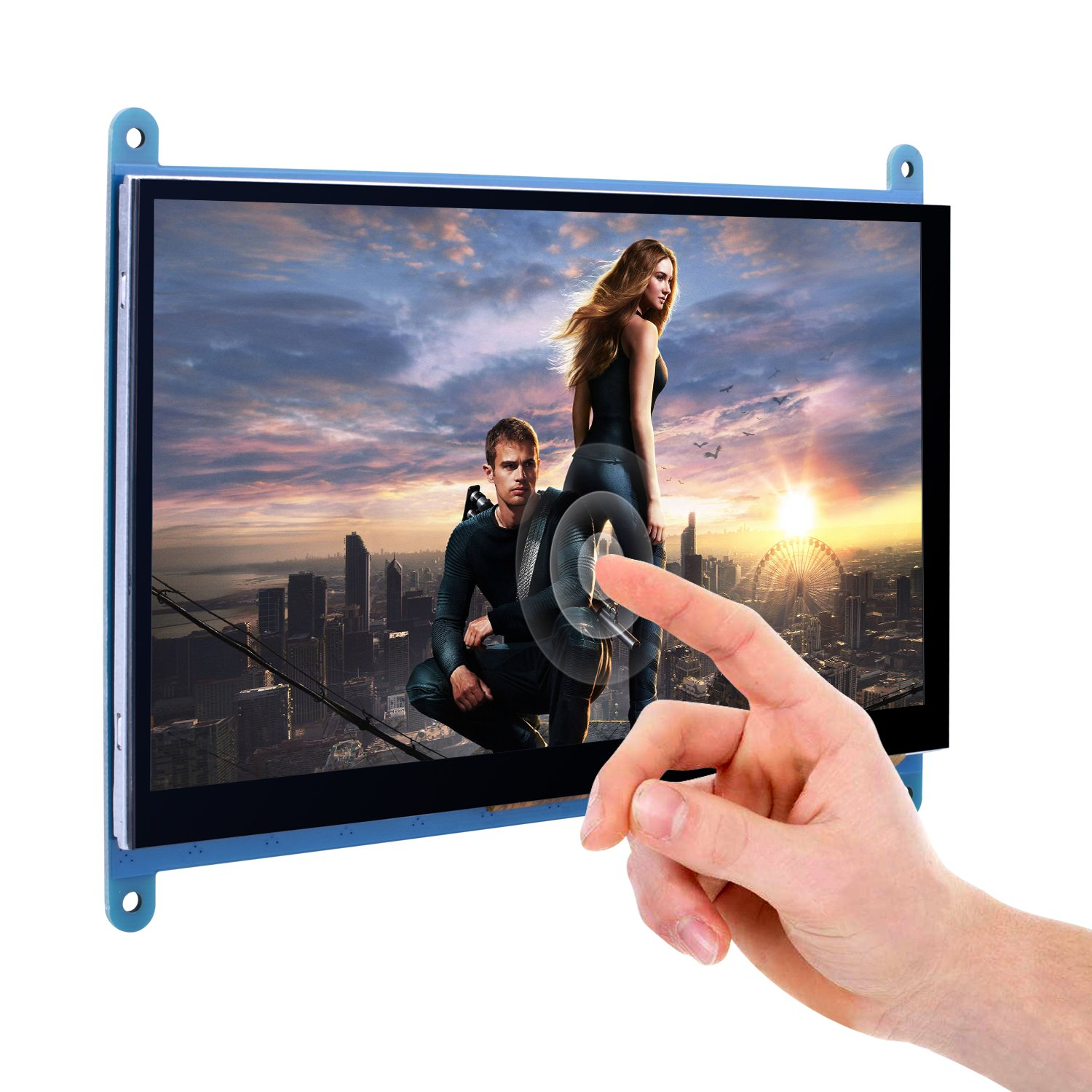 Kuman 7 Inch Capacitive Touch Screen TFT LCD Display HDMI Module 800x480 for Raspberry Pi 3 2 Model B and RPi 1 B+ A BB Black PC Various Systems SC7B (7 Inch Raspberry Pi Touch Screen) by Kuman (Image #4)