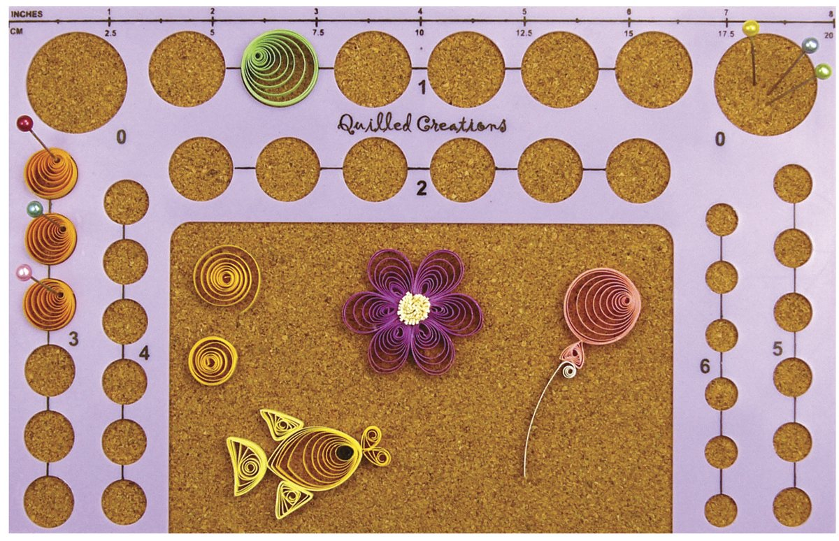 Quilled Creations Circle Template Board-5-inch x 8-inch 5x8