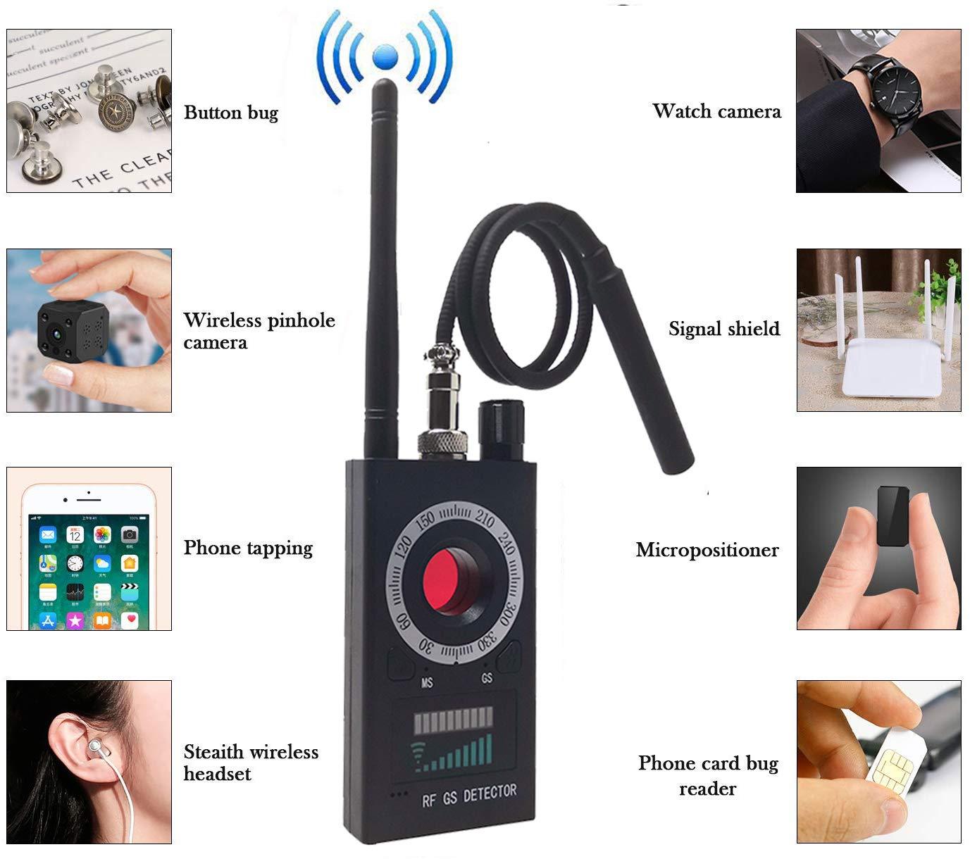 FEAYEA Anti Spy RF Detector - Camera Detector - Wireless Bug Detector Signal - Hidden Camera Detector - GSM Listening Device Finder Radar Radio Scanner by FEAYEA