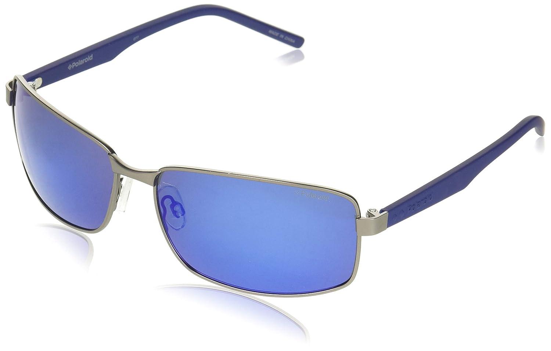 Polaroid PLD 2045/S 5X R80, Gafas de Sol para Hombre, Gris (Smtt Dkruthe Grey Speckled Blue Pz), 63