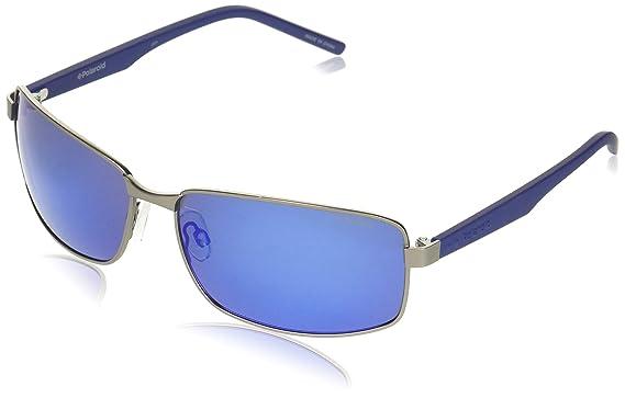 Polaroid Hombre PLD 2045/S 5X R80 Gafas de sol, Gris (Smtt Dkruthe/Grey Grey Speckled Blue Pz), 63: Amazon.es: Ropa y accesorios