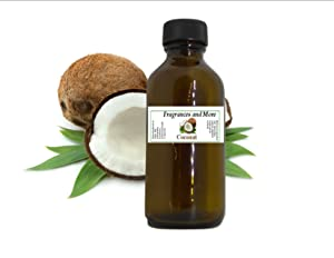 COCONUT FRAGRANCE OIL | For Soap Making| Candle Making| For Use with Diffusers| Add to Bath & Body Products| Home and Office Scents| 2 oz amber glass bottle
