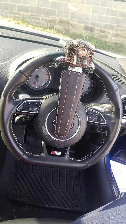 Hanmar Bloqueo antirrobo para Volante de Coche con Soporte Superior para airbag de Seguridad 3 Llaves