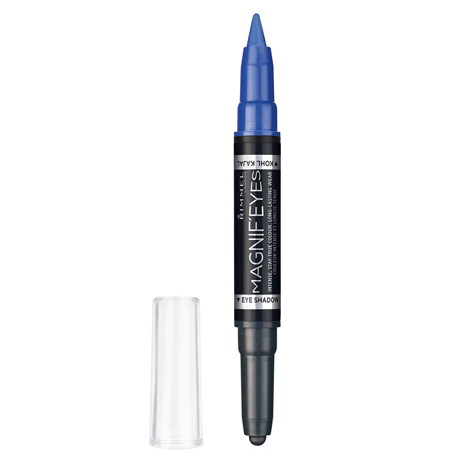 Rimmel London Magnif'Eyes Double Ended Eyeshadow and Liner 001, Back to Blacks, 1.6 g Coty UK 34776191001