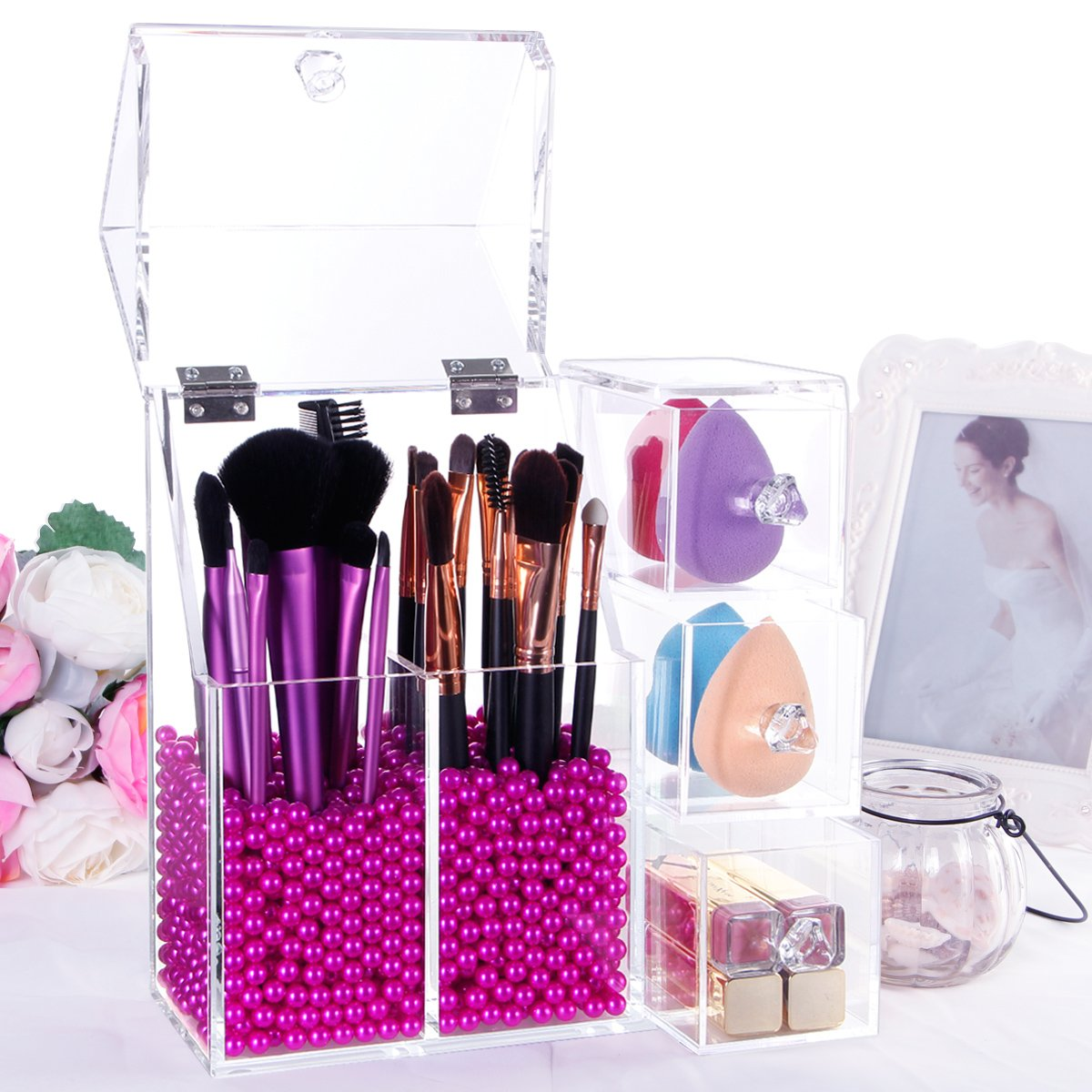Amazon.com: Lifewit Langforth 5mm Thick Acrylic Makeup Organizer ...