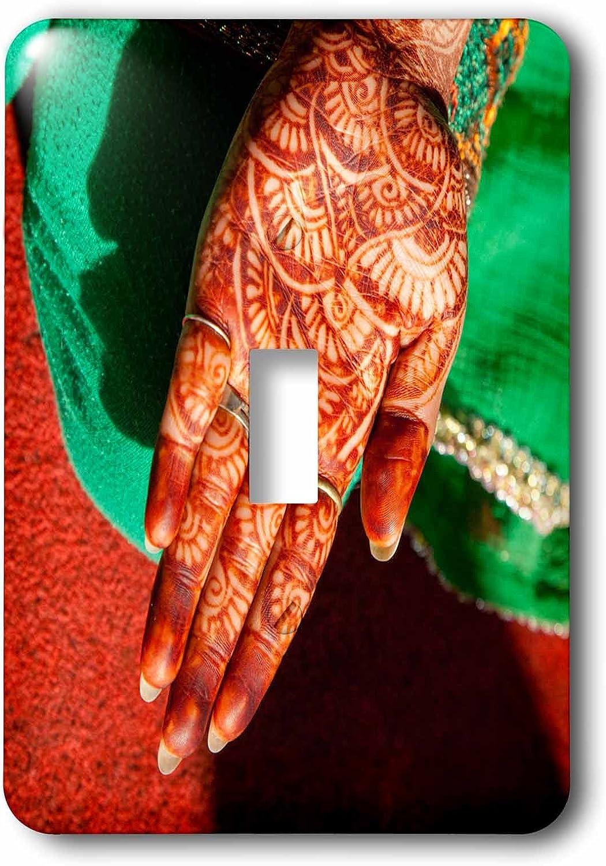 India Single Toggle Switch Dehradun 3dRose lsp/_187377/_1 Indian Henna Tattoo Design on Hand