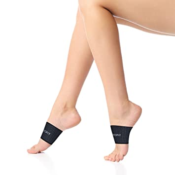 caa532ec95 Kids Arch Compression Sleeve - Plantar Fasciitis Support - Flat Feet  Elastic Copper Bandage Foot Brace