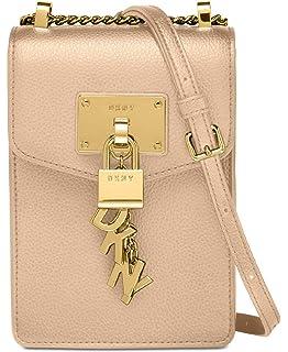 54108e5a6 Amazon.com: DKNY Elissa Pebble Leather Charm Chain Strap Crossbody ...