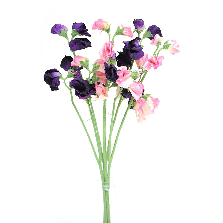 Amazon Floristrywarehouse Artificial Silk Sweetpea Pink