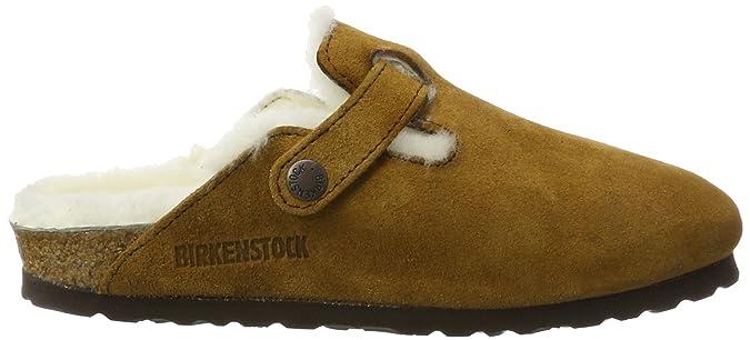 Birkenstock Classic Unisex-Erwachsene Boston Lammfell Clogs, Braun (Mink), 44  EU: Amazon.de: Schuhe & Handtaschen