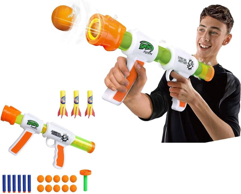 ML Juguete Lanzador de Pelotas de espumas de Aire, Juguetes Bola Suaves - para niños Regalos de cumpleaños