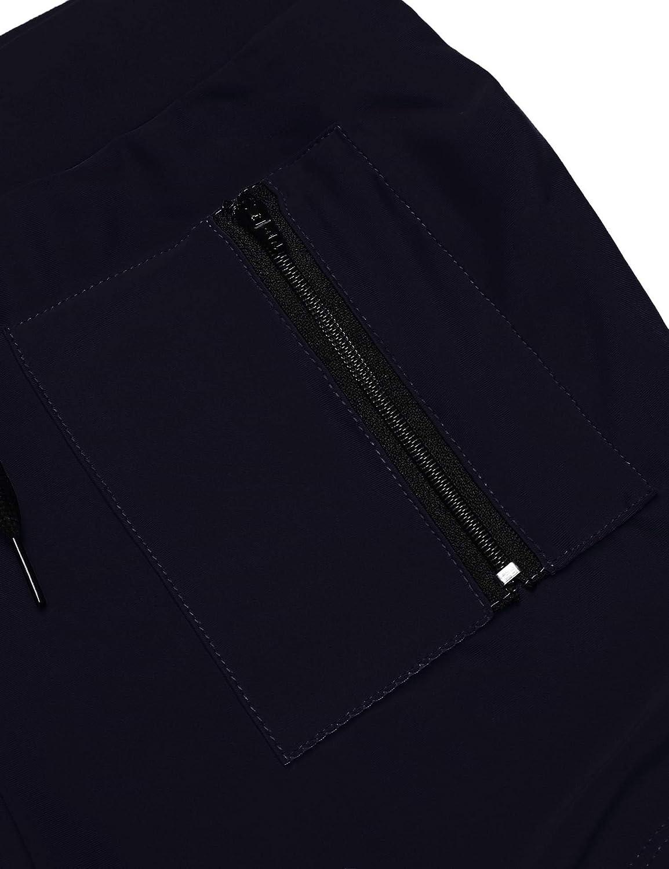 JINIDU Mens Swimming Trunks Boxer Brief Swim Underwear with Zipper Pocket