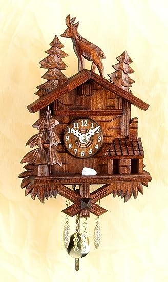 Amazon.de: magicaldeco Miniatur- Pendeluhr-Original Schwarzwald ...