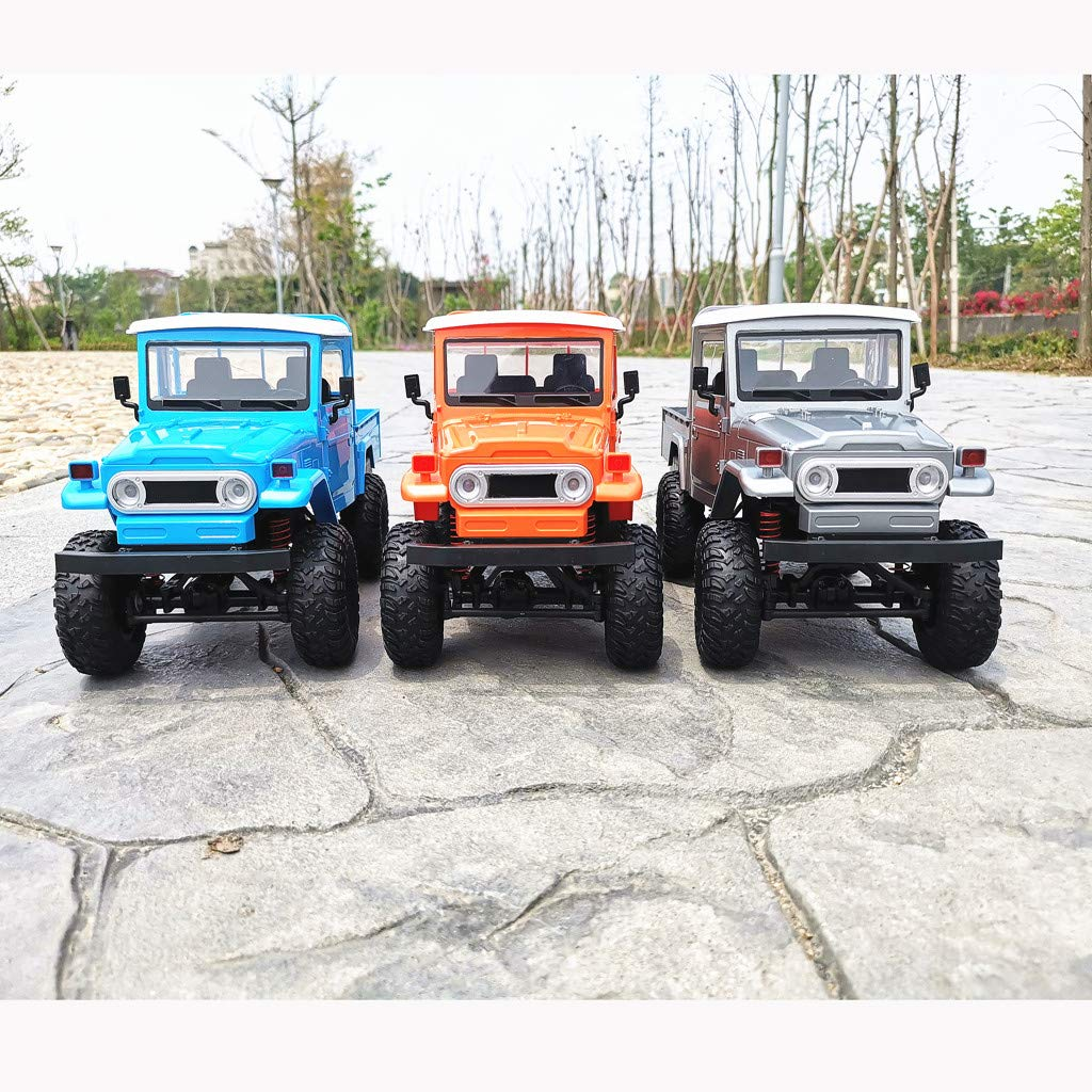 1:12 Off-Road RC Truck Rock Crawler 4WD Front LED Light Military Rock Crawler Monster Truck Car Electric Vehicel Model for Kids & Adults