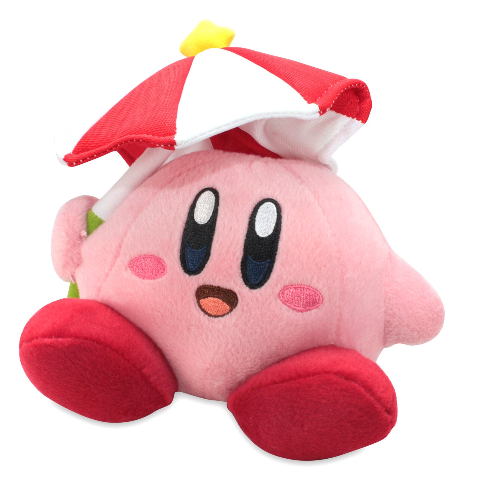 Little Buddy Official Kirby Adventure Parasol/Umbrella Kirby 7'' Plush Doll by Little Buddy Toys