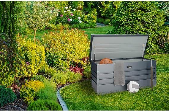Hoggar AARHUS II 300L Metall Aufbewarungsbox Gartentruhe Aufbewahrungstruhe Gartenbox