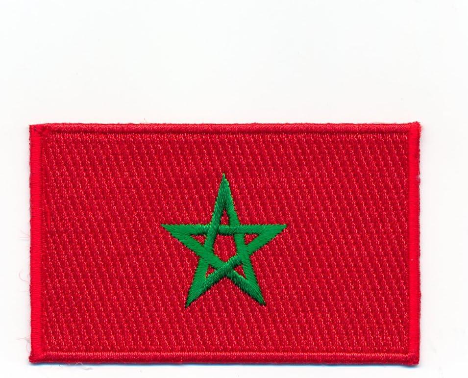 60 X 35 Mm Marokko Casablanca Rabat Agadir Flagge Aufnäher Aufbügler 0990 B Auto