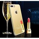 Gold Mirror Apple iPhone 7 Plus Case, Miniko(TM) NEW Luxury Aluminum Ultra-thin Mirror Metal Case Cover for Apple iPhone 7 Plus Case-Gold