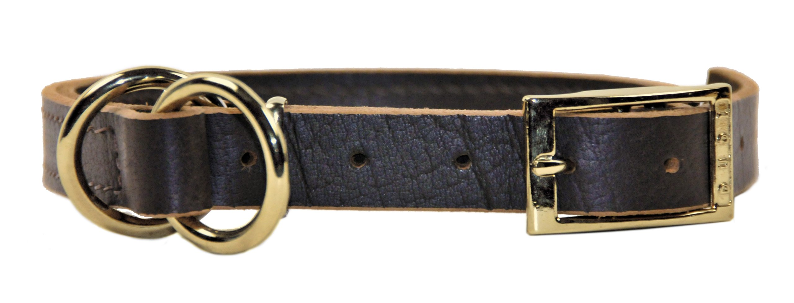Dean and Tyler ''STRICTLY BUSINESS'', 2-in-1 Dog Choke Collar with Solid Brass Hardware - Brown - Size 18-Inch by 1-Inch - Fits Neck 16-Inch to 18-Inch