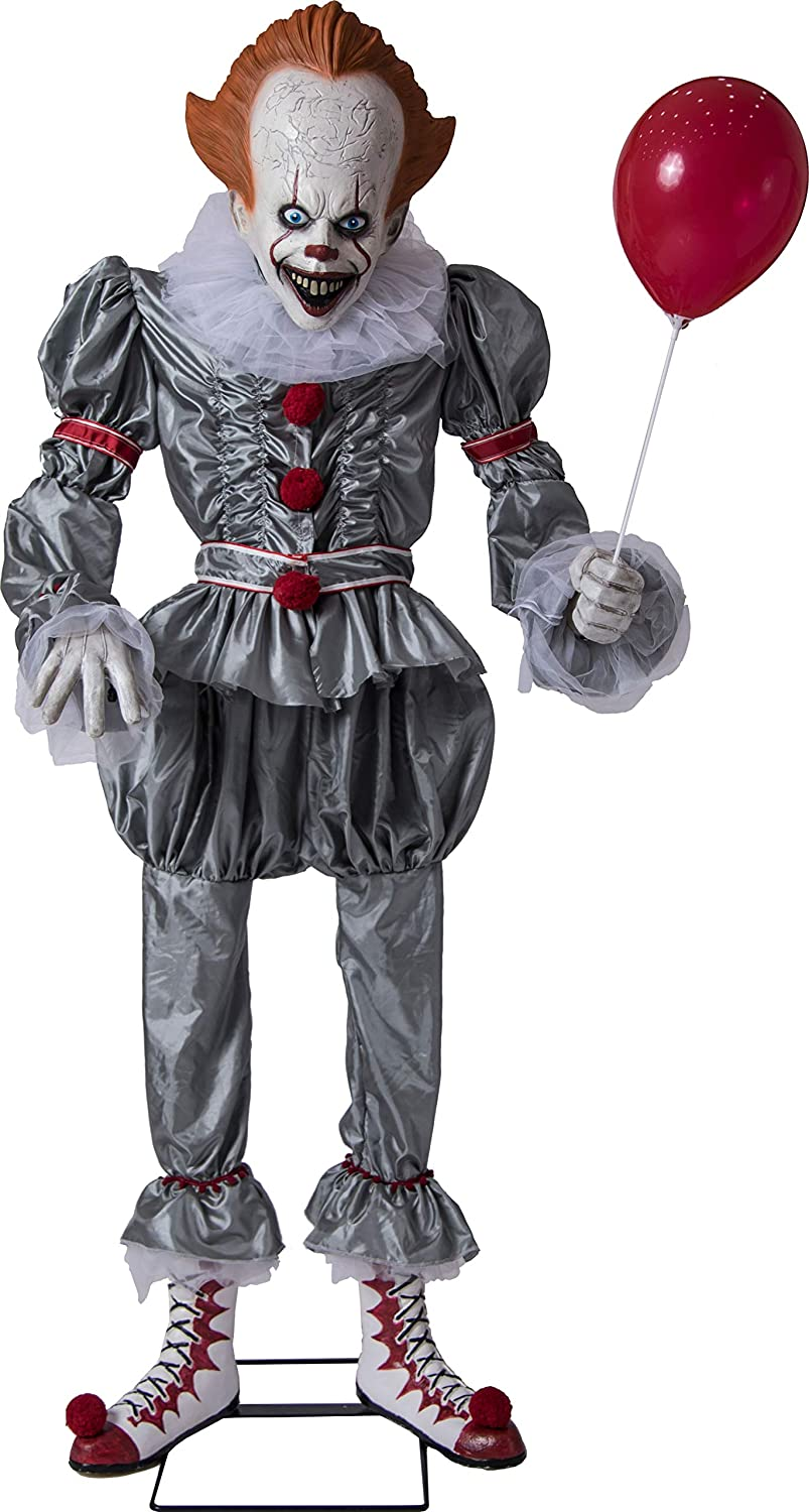 Animated Giant Pennywise Figure Halloween Yard Decoration and Prop 6 H by Morbid